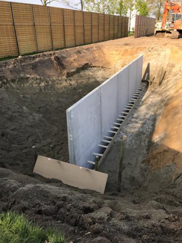 Etang avec murs de sout nement en l wim vererfven cbs - Mur de soutenement en l ...