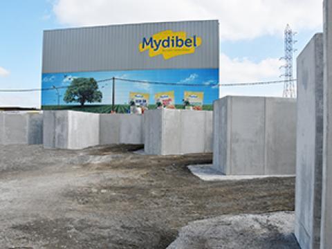 Stützmauern für einen Container Park, CBS beton, Emmen