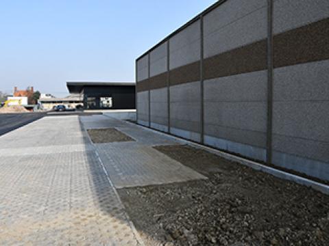Albert Heijn, murs de soutenement CBS beton