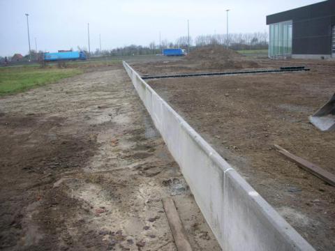 Afbakening met beton