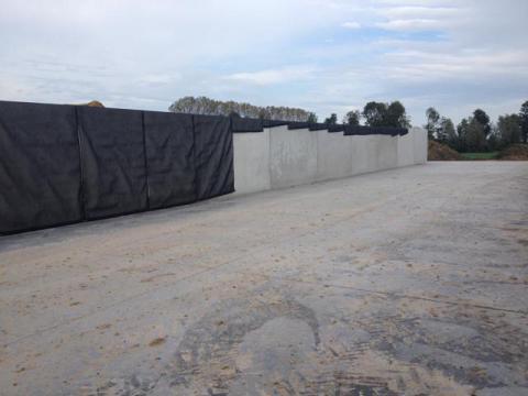 Afdeksysteem met beton panelen