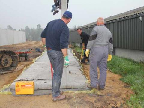 betonwanden voor silo
