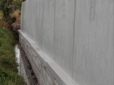 agri l en u wanden in beton
