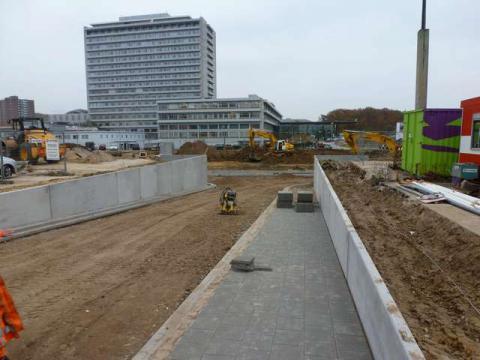 wegenwerken met beton