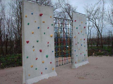 Mur d'escalade en béton