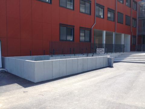betonwanden ziekenhuis