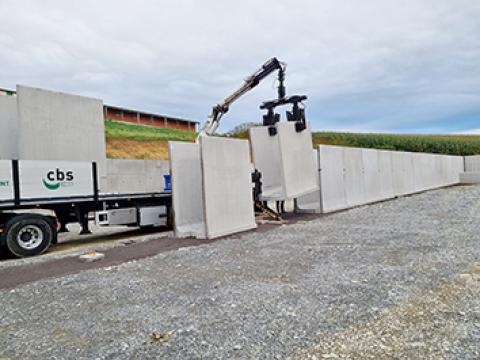 Biogas, Cbs Beton, Frankrijk, Landbouw, agri, l-wanden, u-wanden, sleufsilo 1