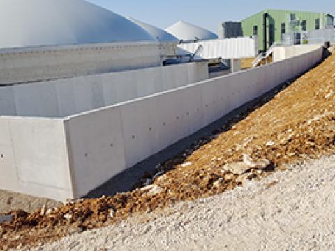 Biogas, sleufsilos, CBS Beton, Wielsbeke, Landbouw, keerwanden, Agri