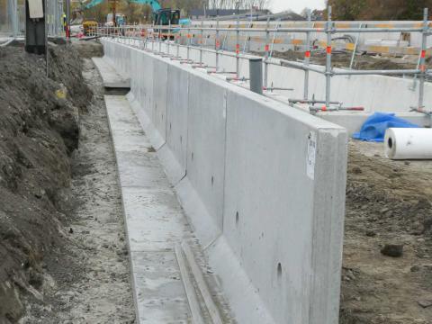 Murs de soutènement CLF10GS à la gare d'Ingelmunster 2