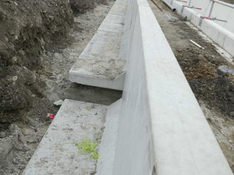 Murs de soutènement CLF10GS à la gare d'Ingelmunster 4