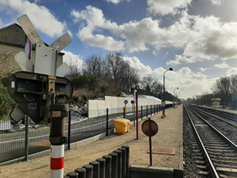 Keerwanden CLS10GS, CBS beton, Wielsbeke station