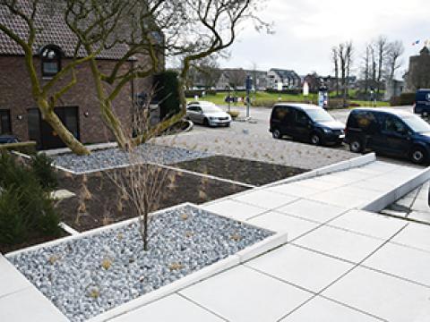 Murs de soutènement, margelles, dalles de sol, CBS beton, Wielsbeke Herzele