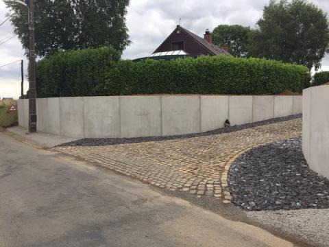 Murs en L type CLF10GS accès maison privée