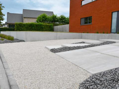 murs de soutènement, marches et dalles de sol CBS Beton Sint-Eloois-Winkel 1