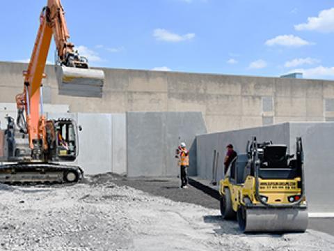 Keerwanden, CBS Beton, recyclage, Wielsbeke