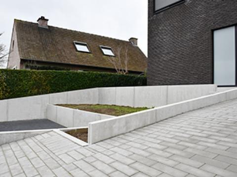Projet de villa à MOEN, CBS murs de soutènement