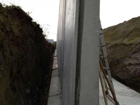 ophogen en betonnen wanden