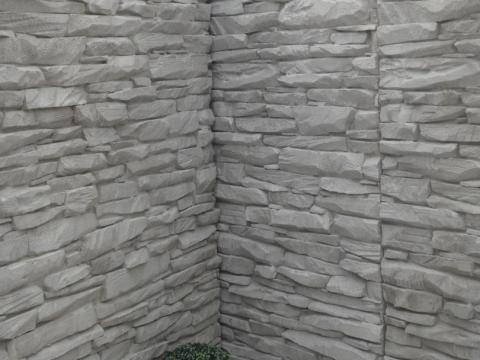Keerwanden H 3 m met motief 'BRABANT' onder scherpe hoek