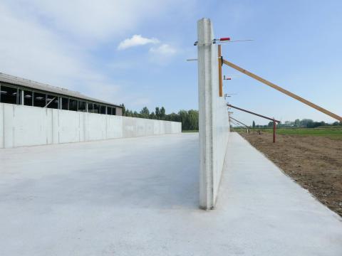 Murs silo NH 2m avec socle en béton 1