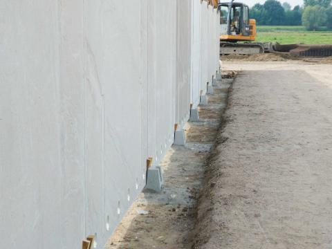Murs silo NH 2m avec socle en béton 6