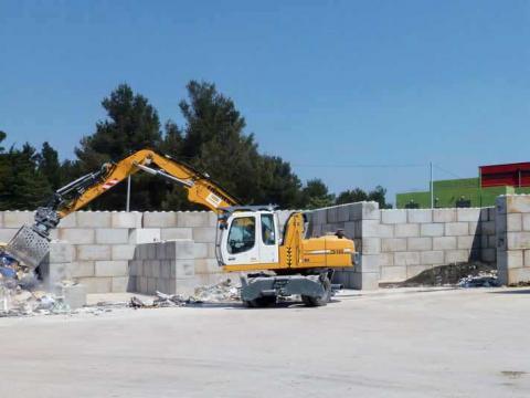 Super-Blocken in Beton