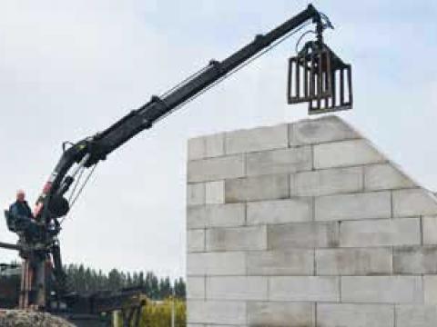 Levering & plaatsing betonblokken