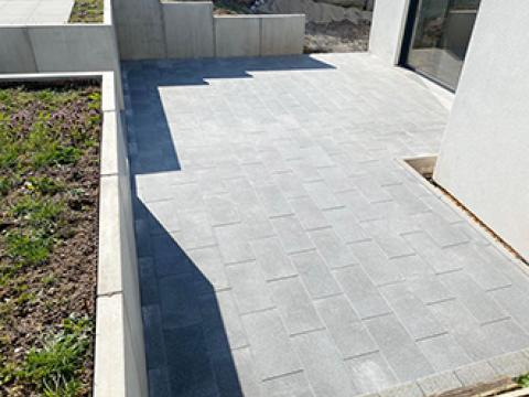 Terras, CBS beton, keerwanden, Wielsbeke, grondwerken