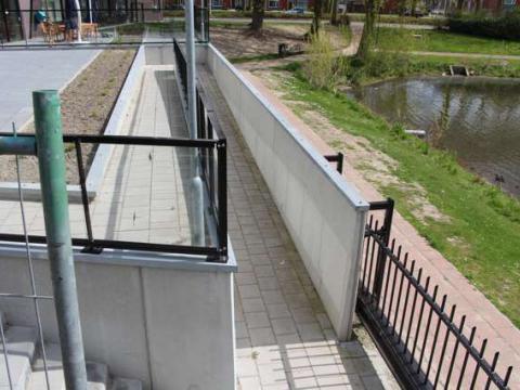 betonelementen voetpad